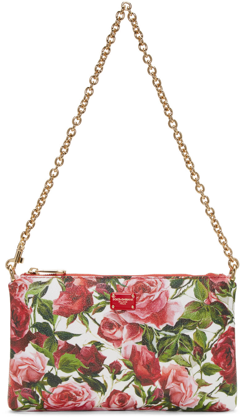 Dolce and Gabbana Multicolor Micro Rose Bag