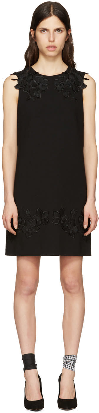 Dolce and Gabbana Black Macrame Lace Dress