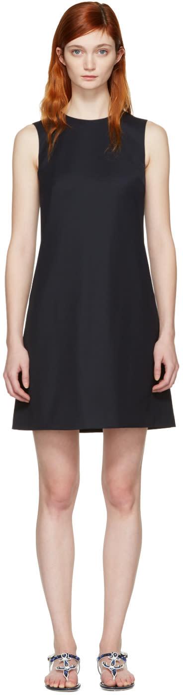 Dolce and Gabbana Navy Wool Shift Dress