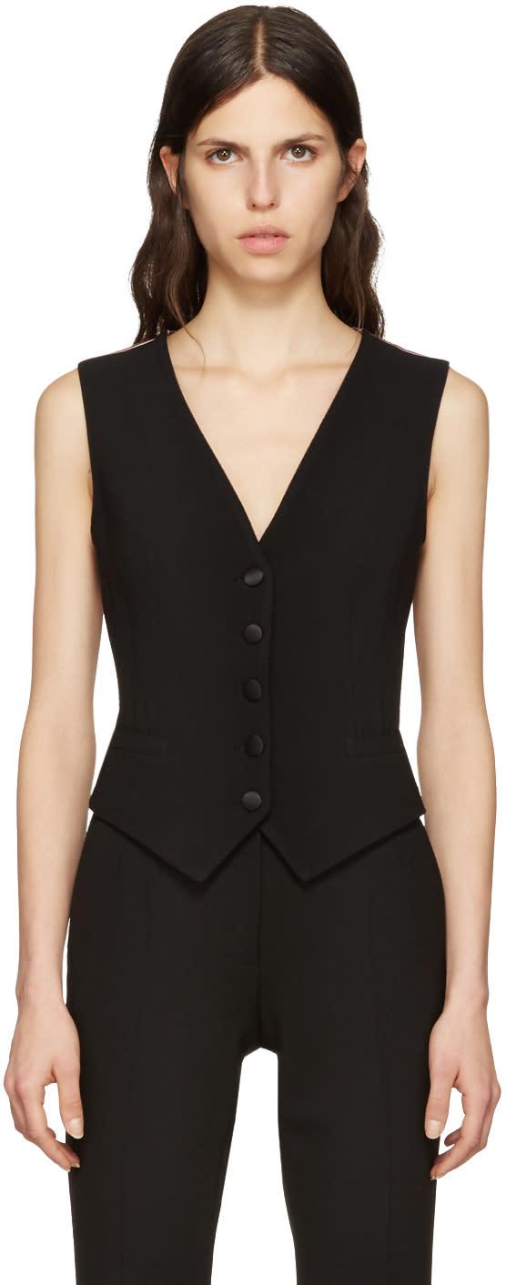 Dolce and Gabbana Black Crepe Vest