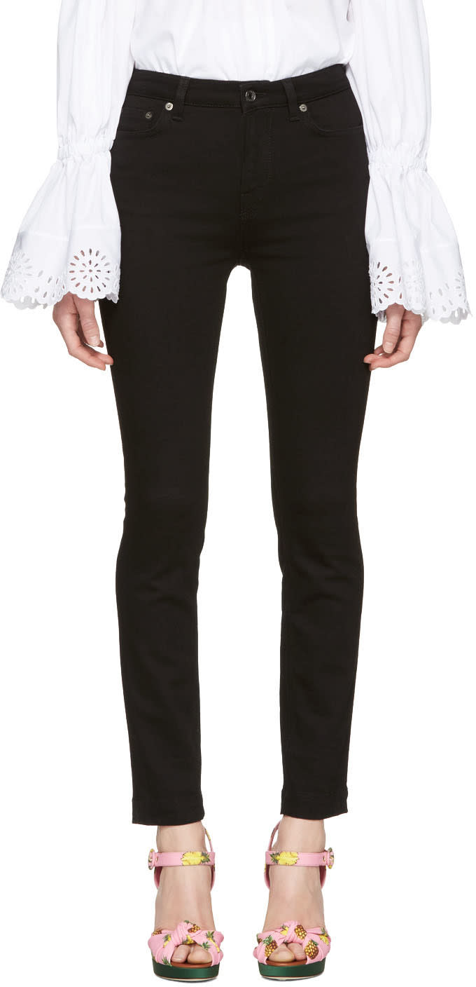Dolce and Gabbana Black High-waisted Skinny Jeans