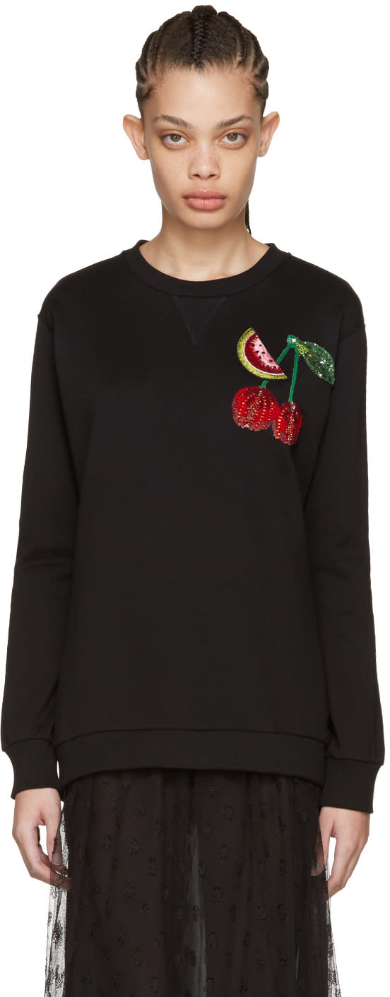 Dolce and Gabbana Black Cherry Pullover