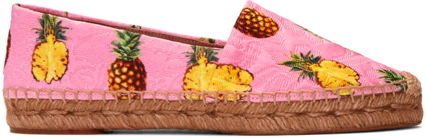 Dolce and GabbanaPink Pineapple Espadrilles