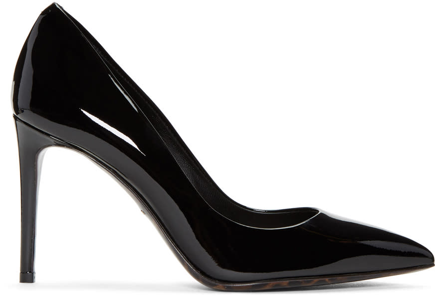 Dolce and Gabbana Black Patent Leather Kate Heels