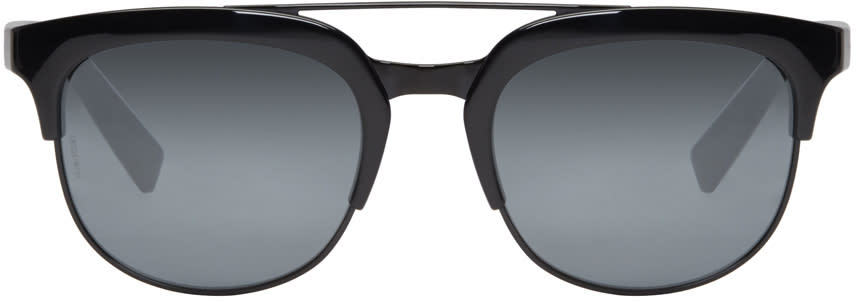 Dolce and Gabbana Black Double Bridge Sunglasses