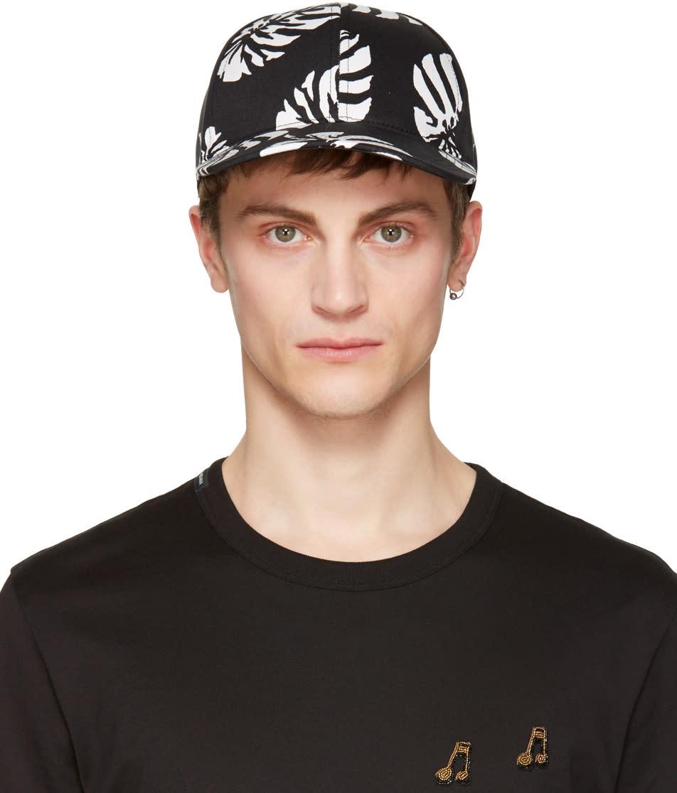 Dolce and Gabbana Black Leaf Cap