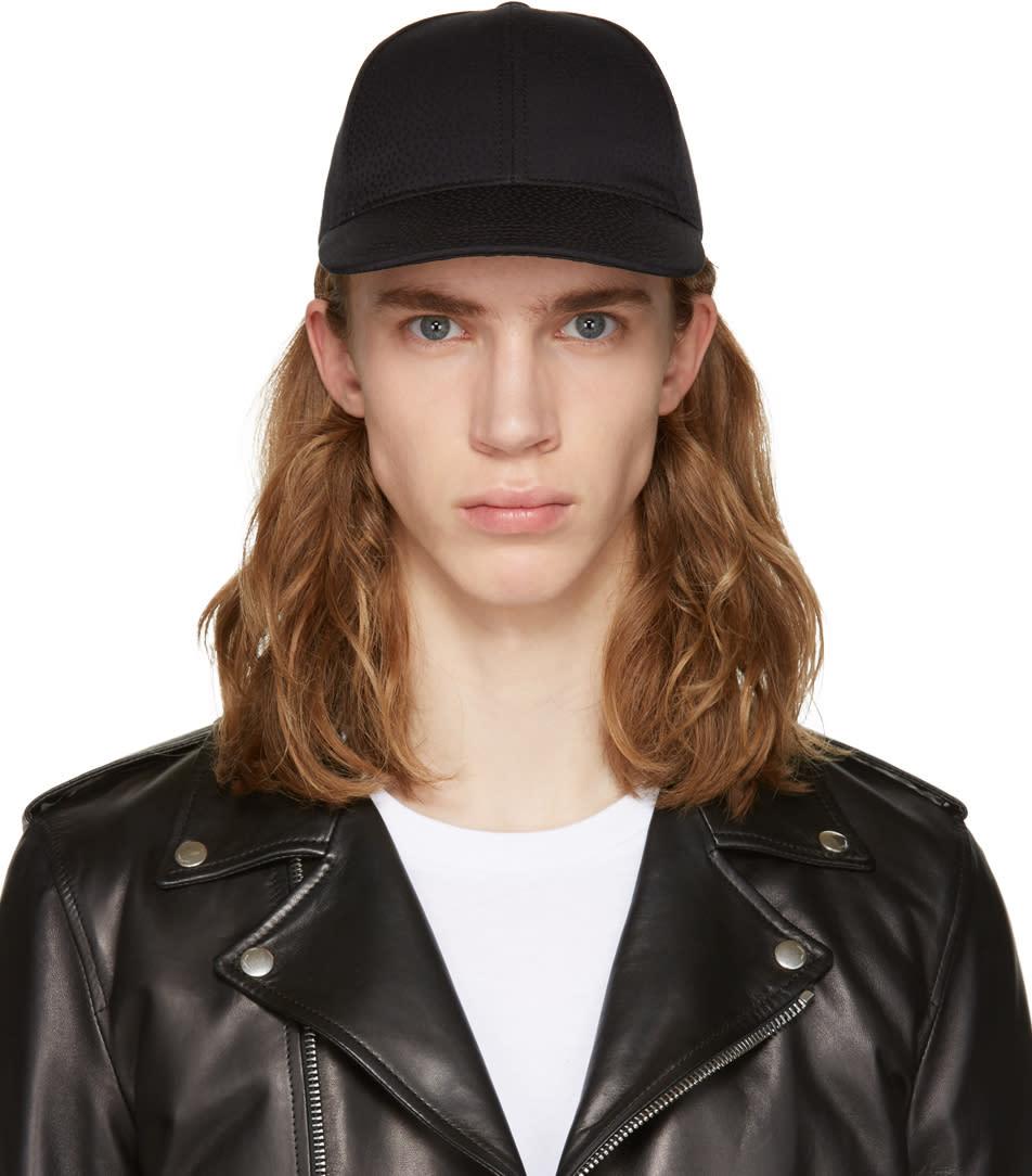 Dolce and Gabbana Black Tonal Print Cap