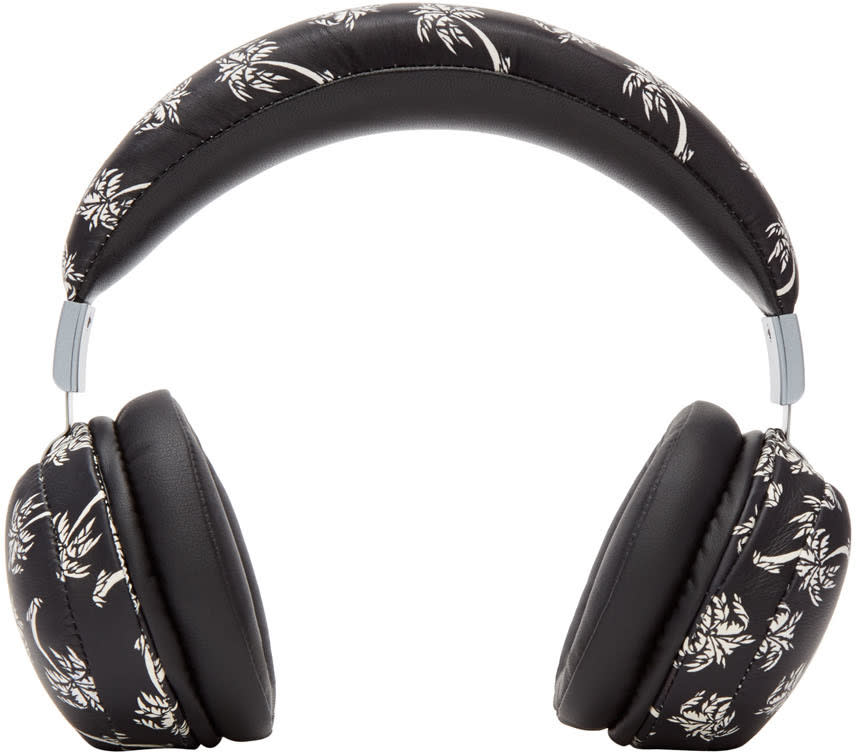 Dolce and Gabbana Black Palm Tree Headphones