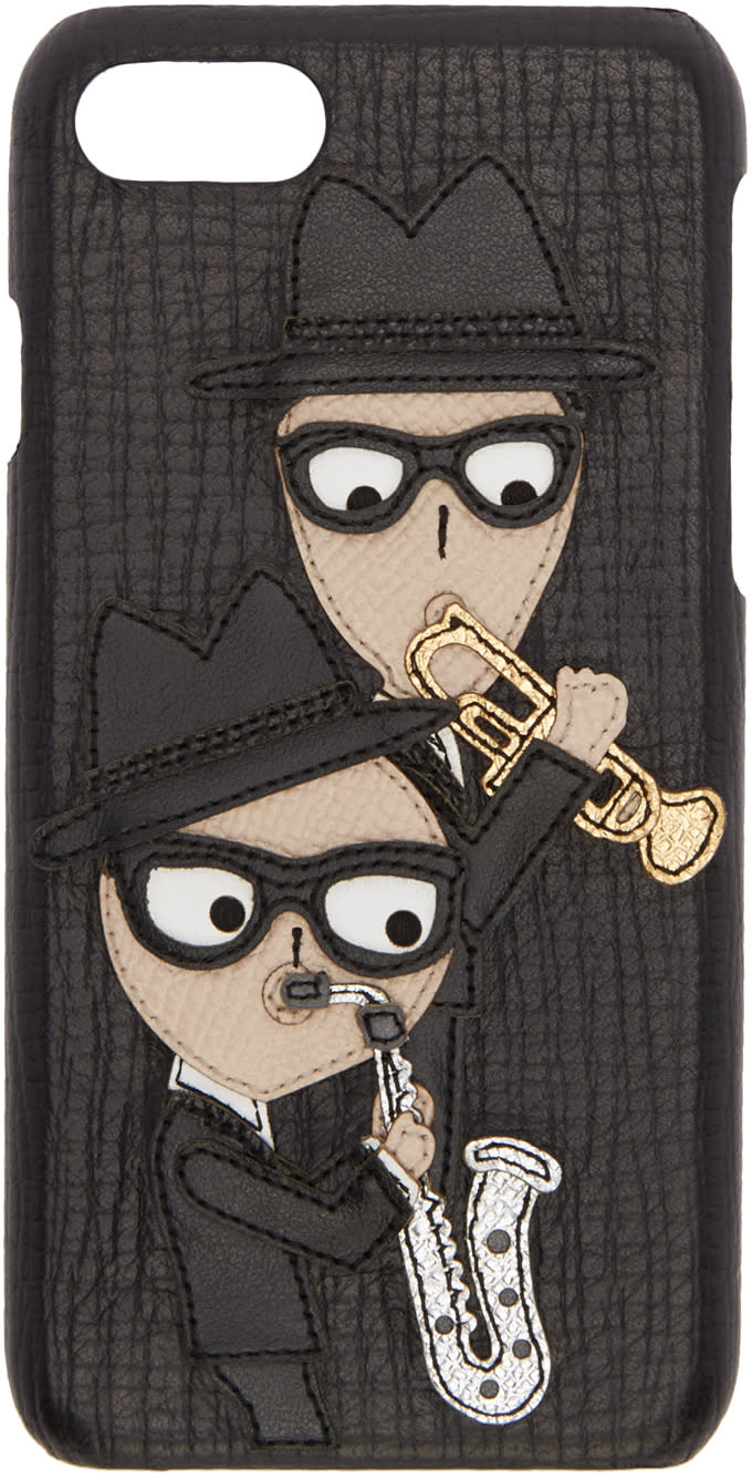 Dolce and Gabbana Black Sax Players Iphone 7 Case