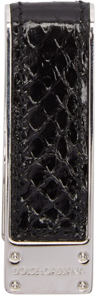Dolce and Gabbana Black Snake Money Clip