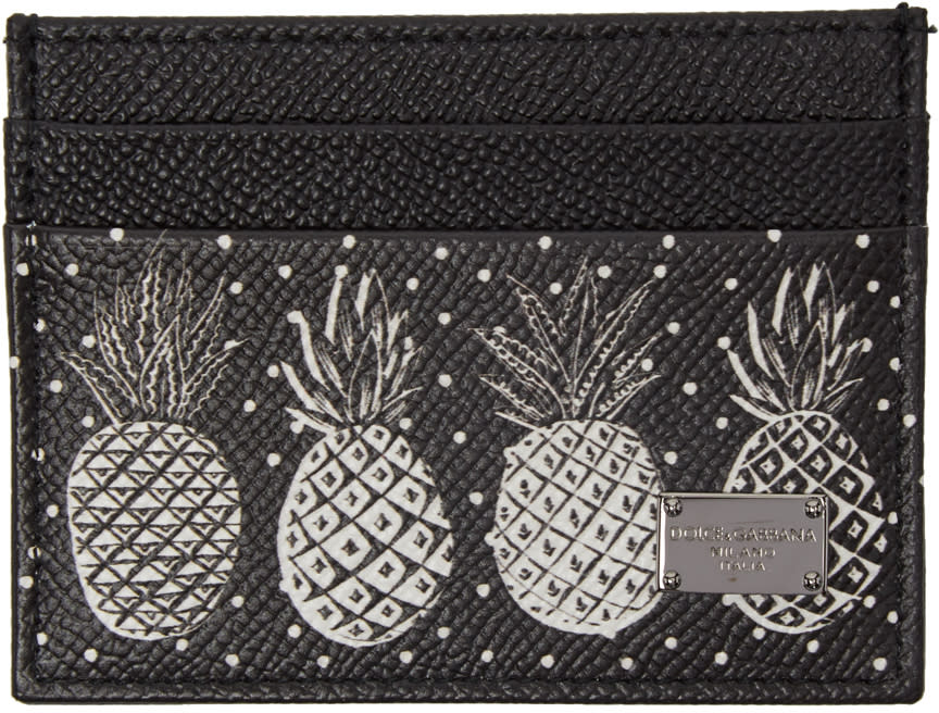 Dolce and Gabbana Black Pineapple Card Holder