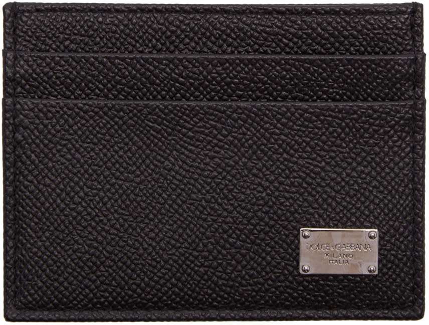 Dolce and Gabbana Black Leather Card Holder