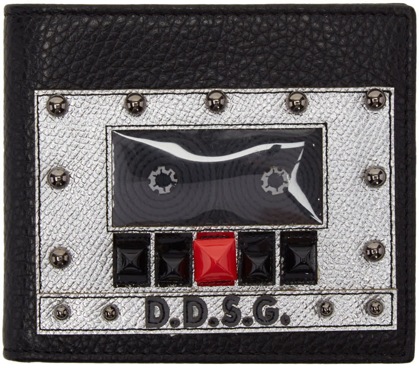 Dolce and Gabbana Black Boombox Wallet