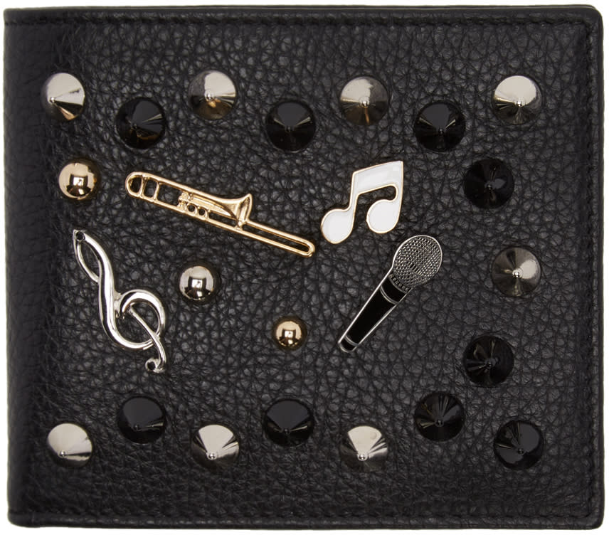 Dolce and Gabbana Black Studs And Pins Wallet
