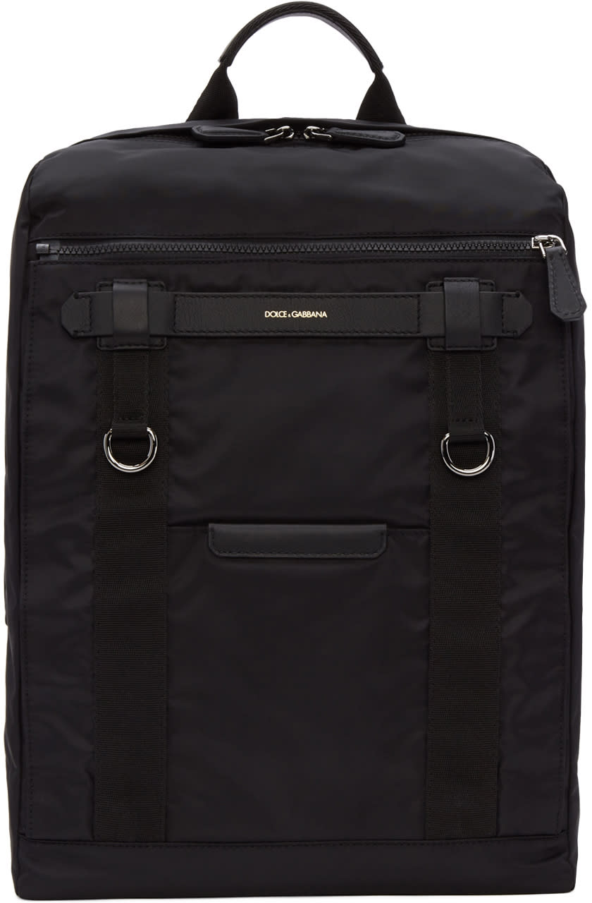 Dolce and Gabbana Black Newtech Backpack