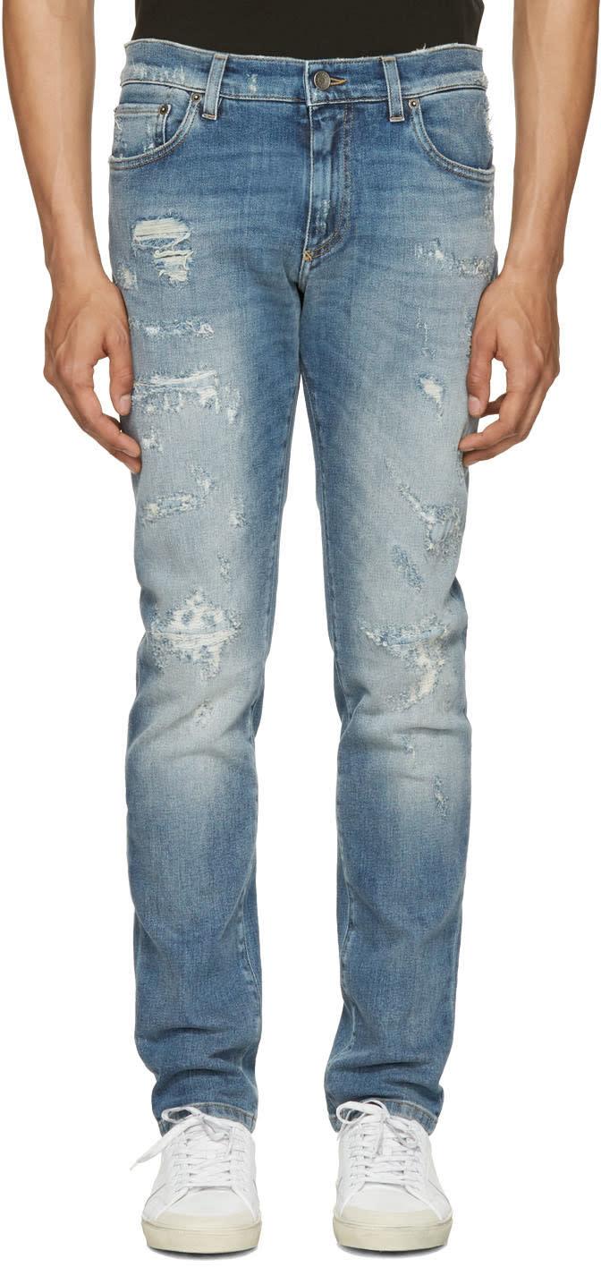 Dolce and Gabbana Blue Stretch Denim Jeans