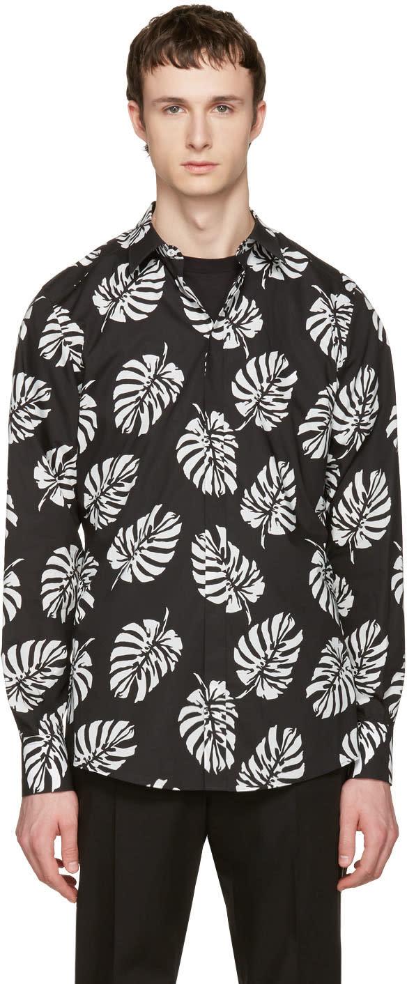 Dolce and Gabbana Black Leaf Shirt