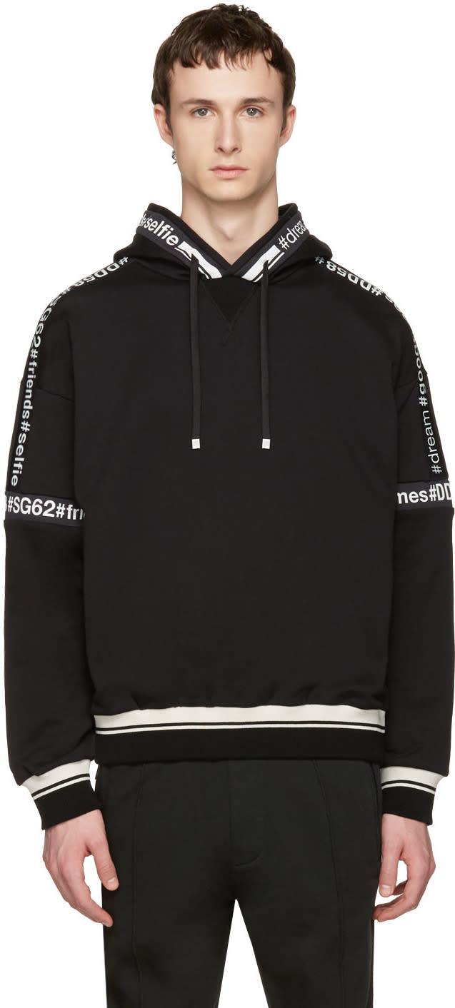 Dolce and Gabbana Black Logo Hashtag Hoodie