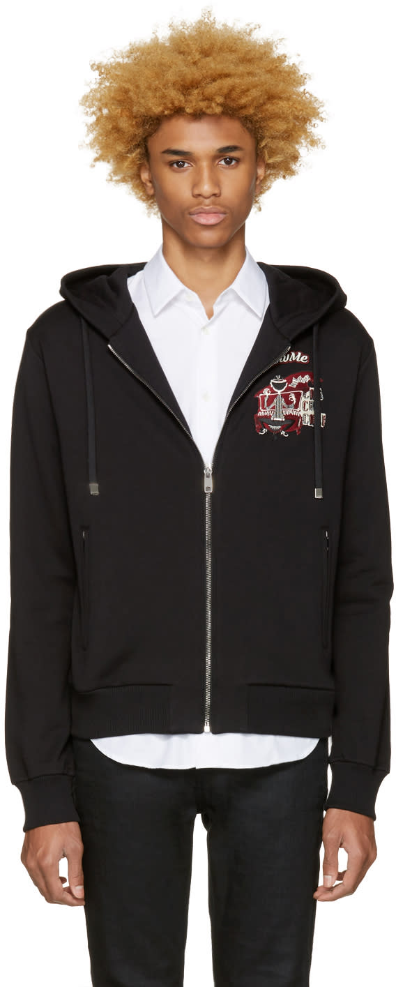 Dolce and Gabbana Black follow Me Hoodie