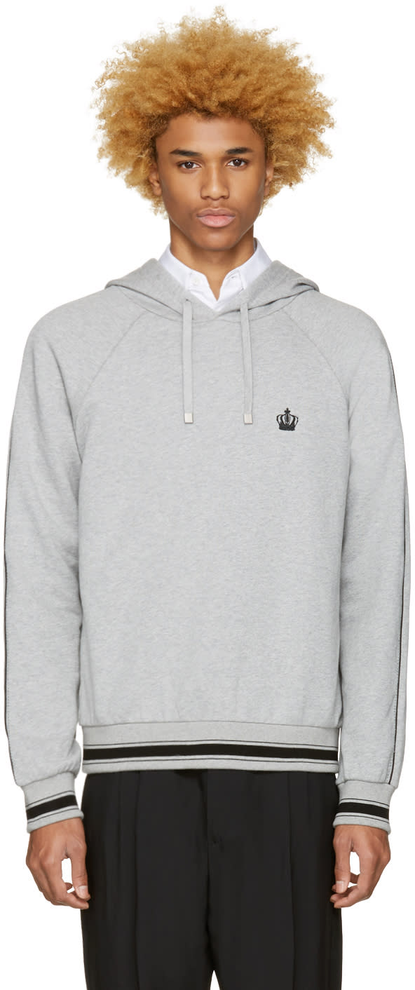 Dolce and Gabbana Grey Crown Hoodie