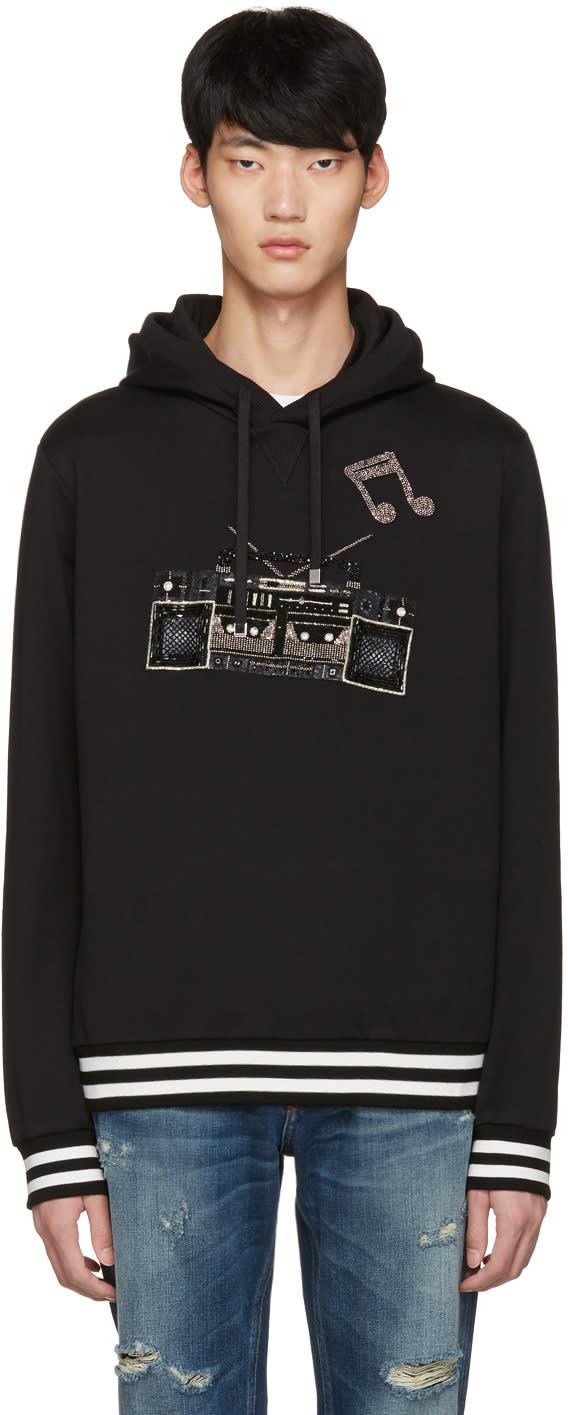 Dolce and Gabbana Black Boombox Hoodie