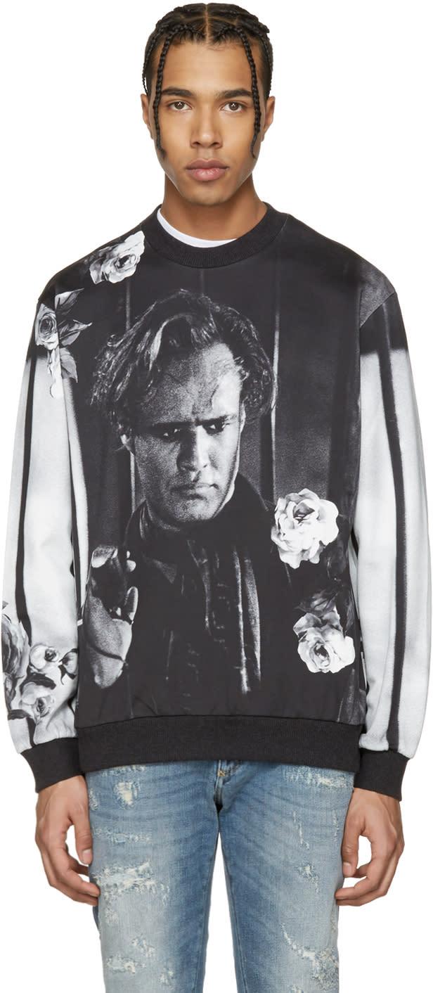 Dolce and Gabbana Black and White Marlon Brando Pullover