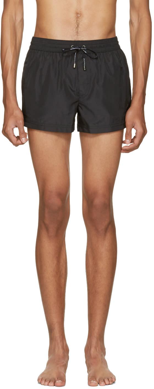 Dolce and Gabbana Black Crown Swim Shorts