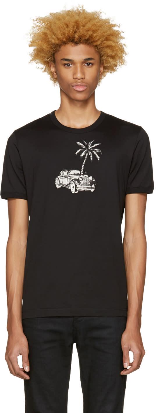 Dolce and Gabbana Black Palm Tree T-shirt