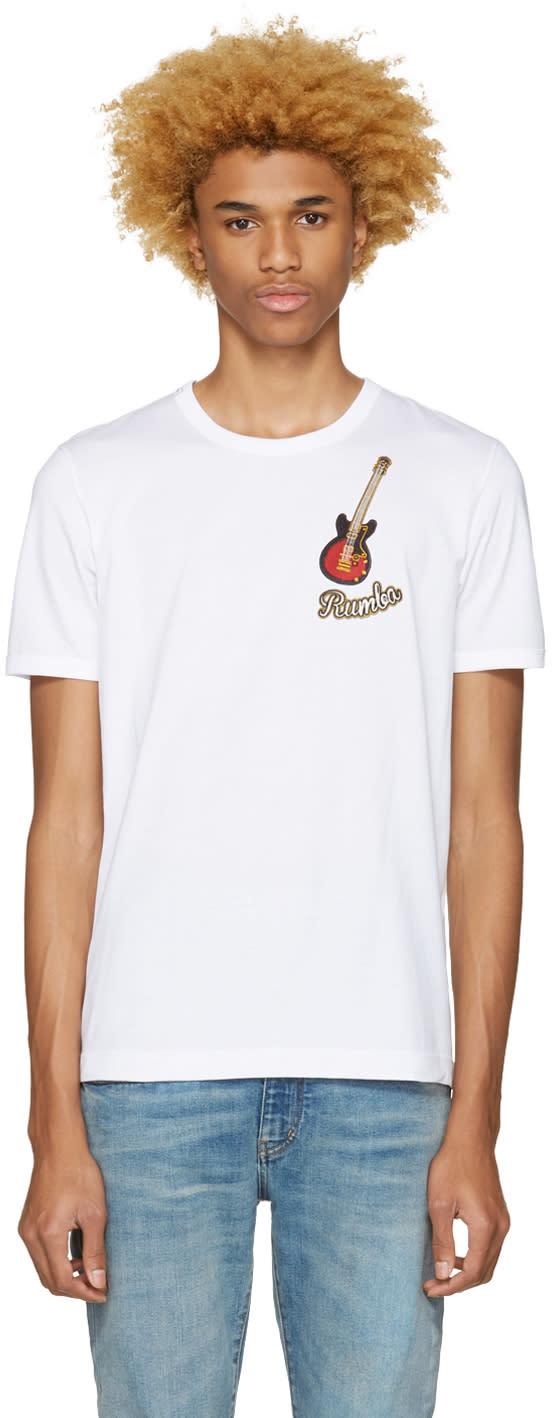 Dolce and Gabbana White rumba T-shirt