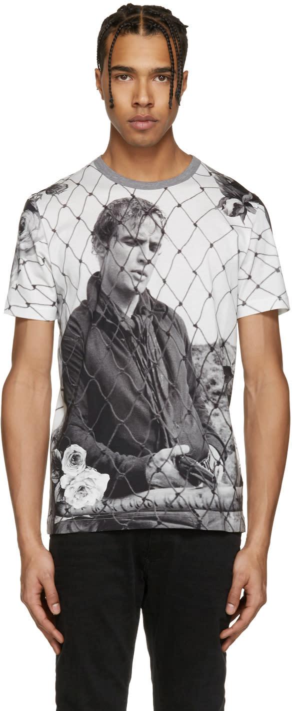Dolce and Gabbana White Marlon Brando Fence T-shirt