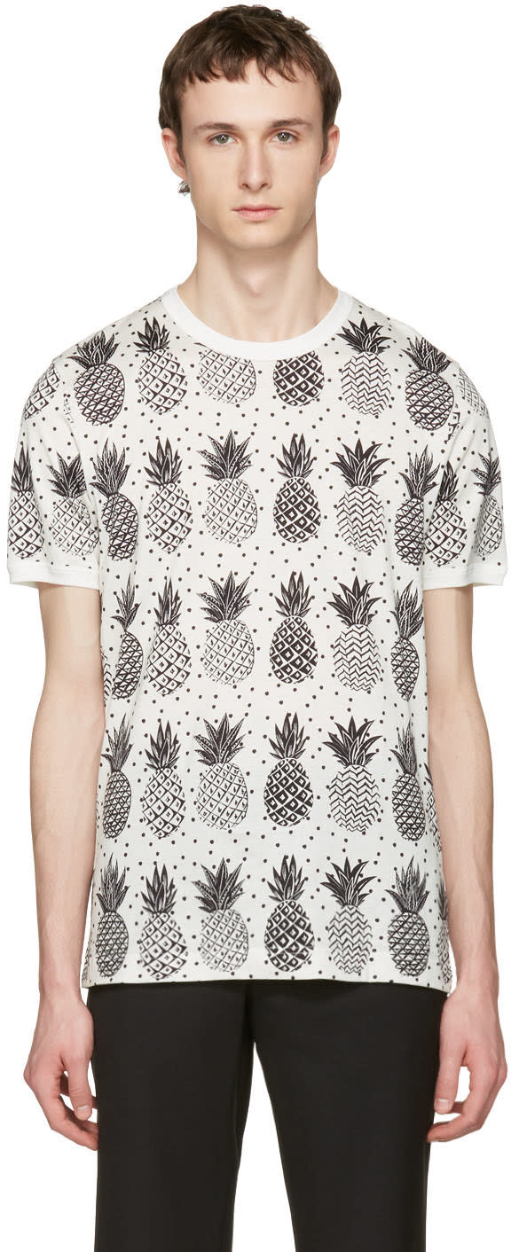 Dolce and Gabbana White Pineapple T-shirt