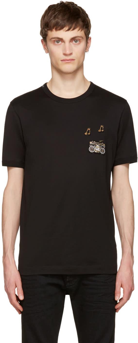 Dolce and Gabbana Black Boombox T-shirt