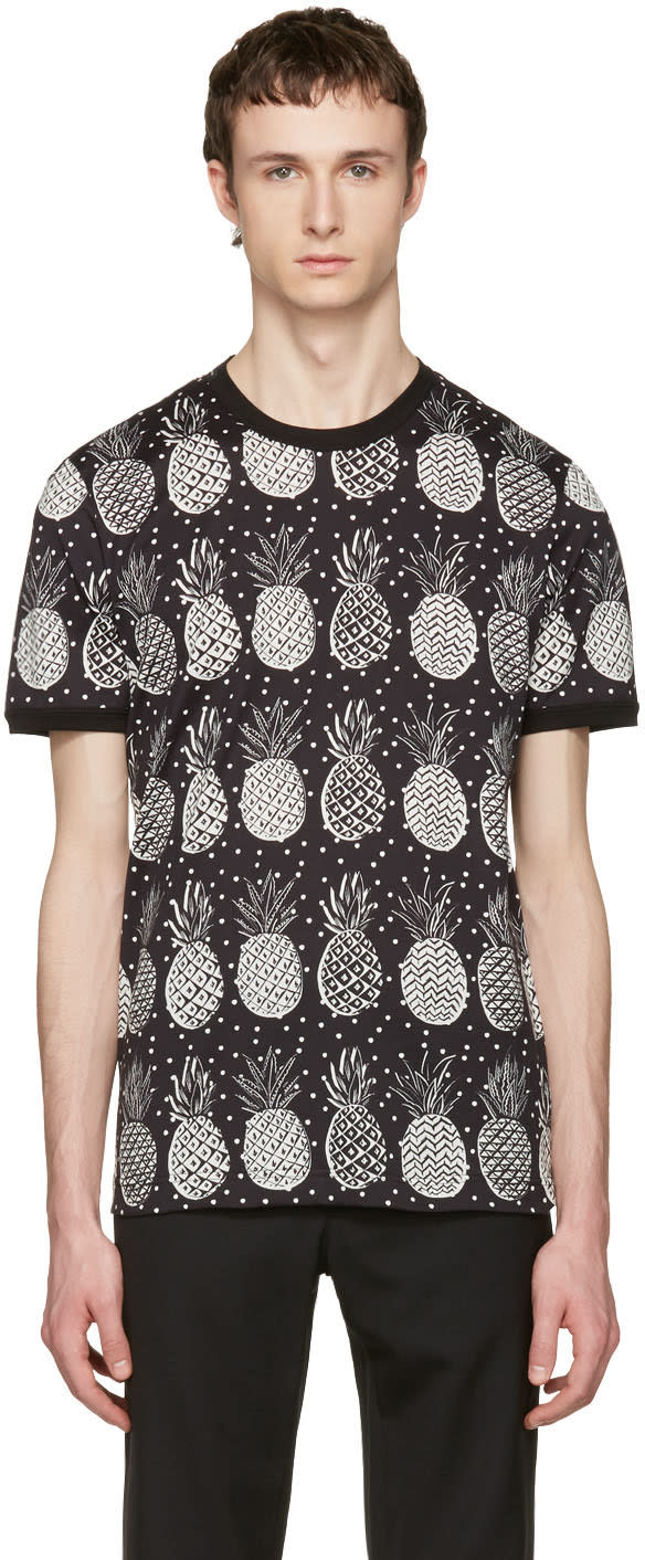 Dolce and Gabbana Black Pineapple T-shirt