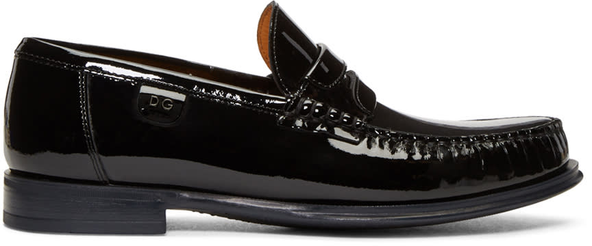 Dolce and Gabbana Black Patent Loafers