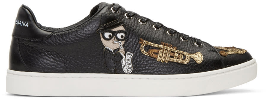 Dolce and Gabbana Black Sax Designers Sneakers