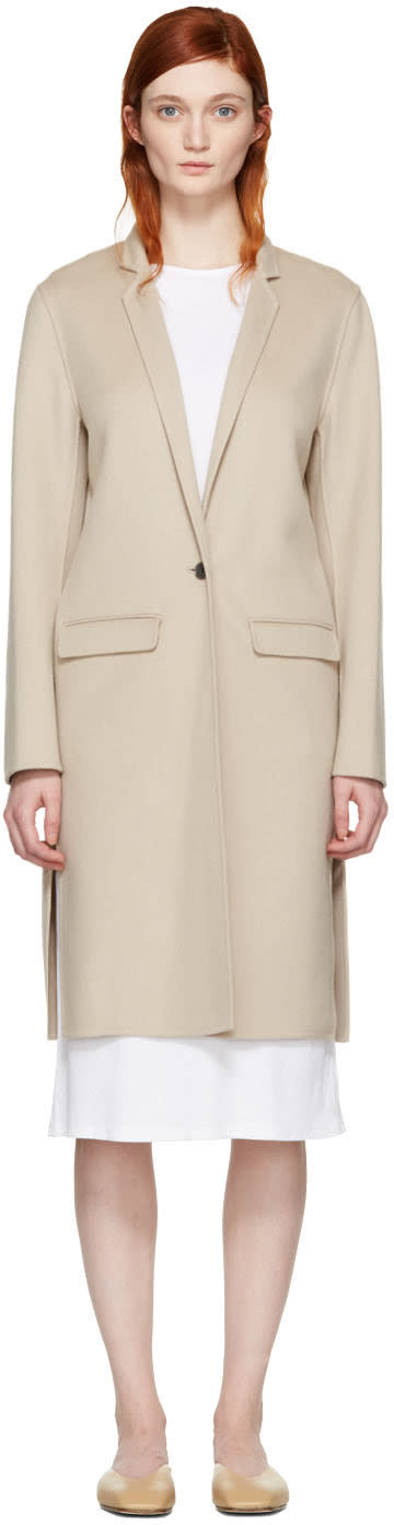 Mackage Beige Wool Hensley Coat