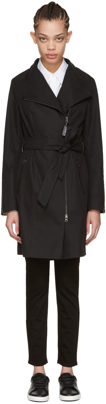 Mackage Black Estela Trench Coat