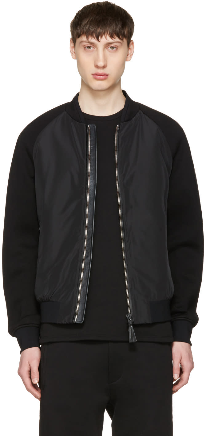 Mackage Black Granger Bomber Jacket