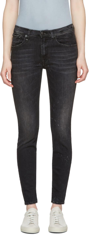R13 Black High Rise Jeans