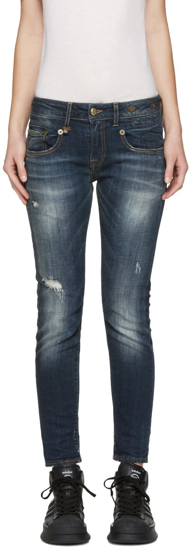 R13 Indigo Boy Skinny Jeans
