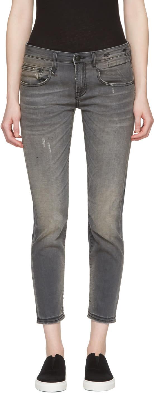 R13 Grey Boy Skinny Jeans