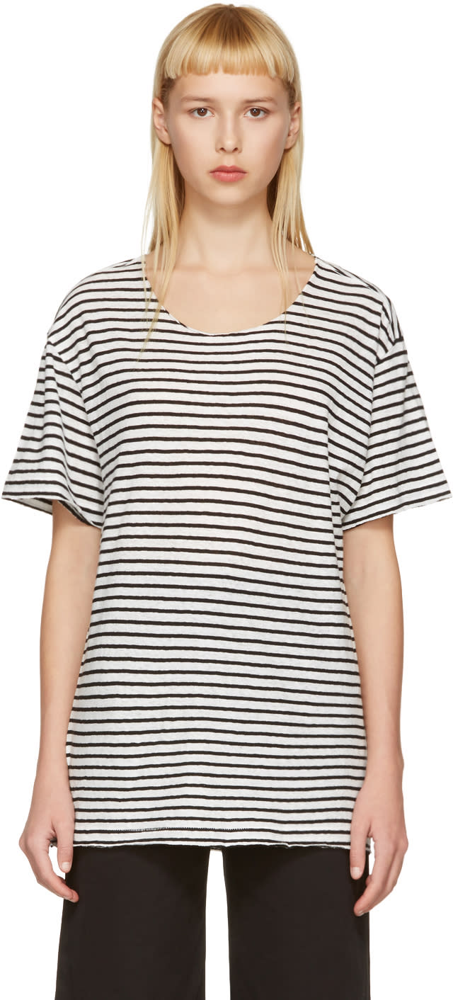 R13 Black and White Striped Rosie T-shirt