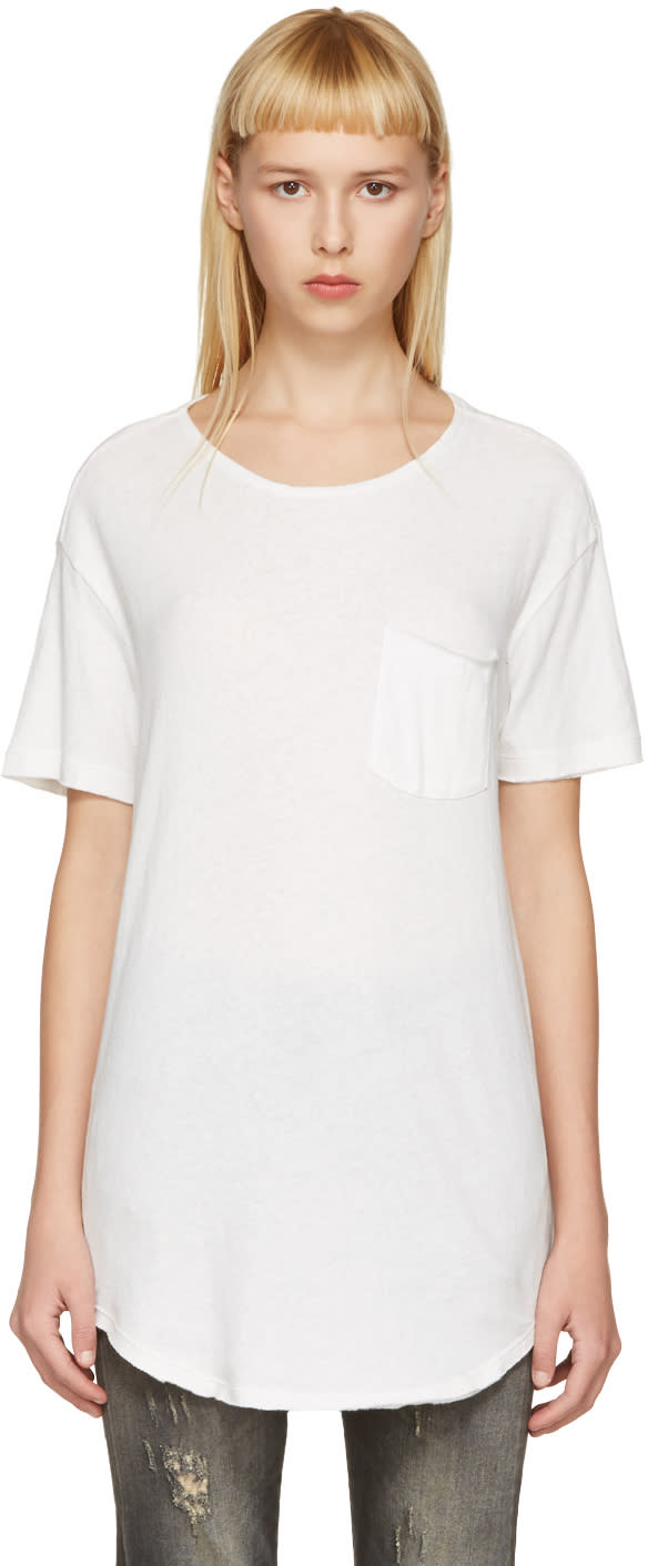 R13 Off-white Pocket T-shirt