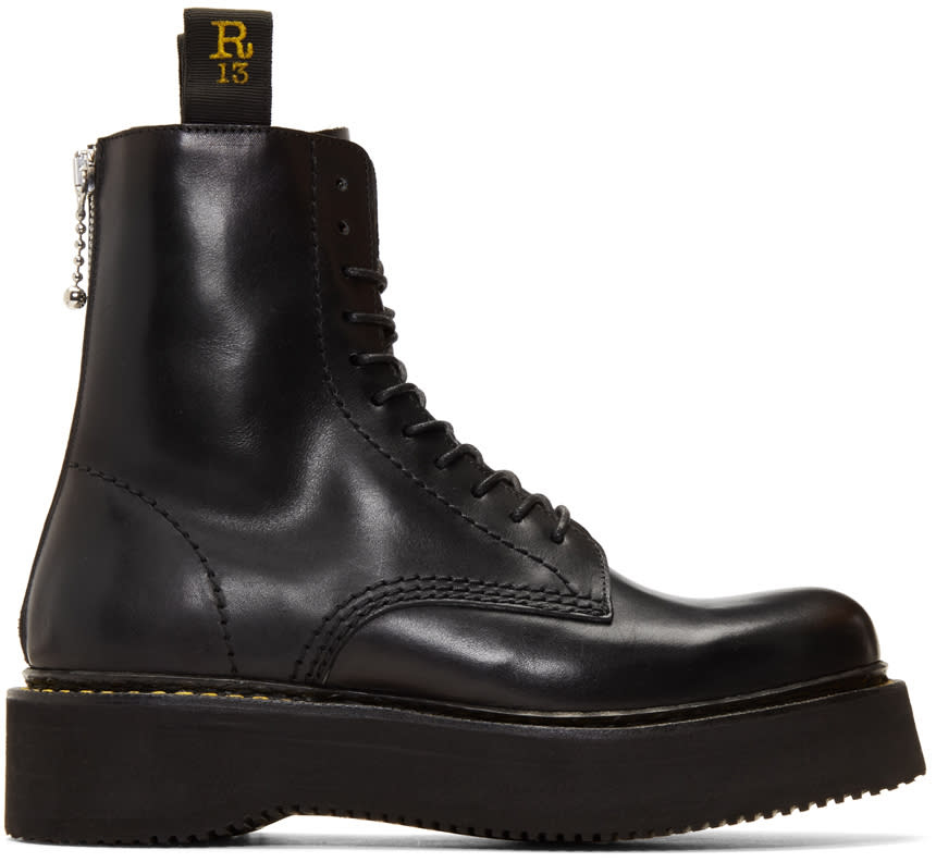 R13 Black Military Boots