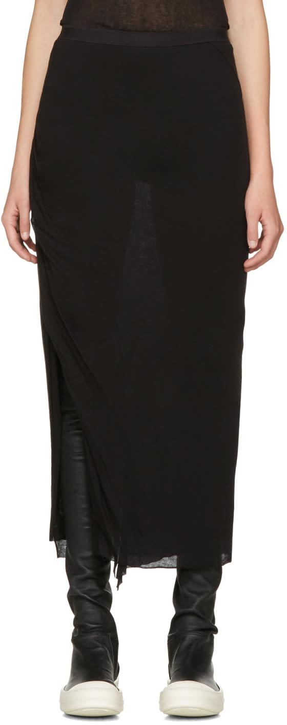 Rick Owens Lilies Black Slit Skirt