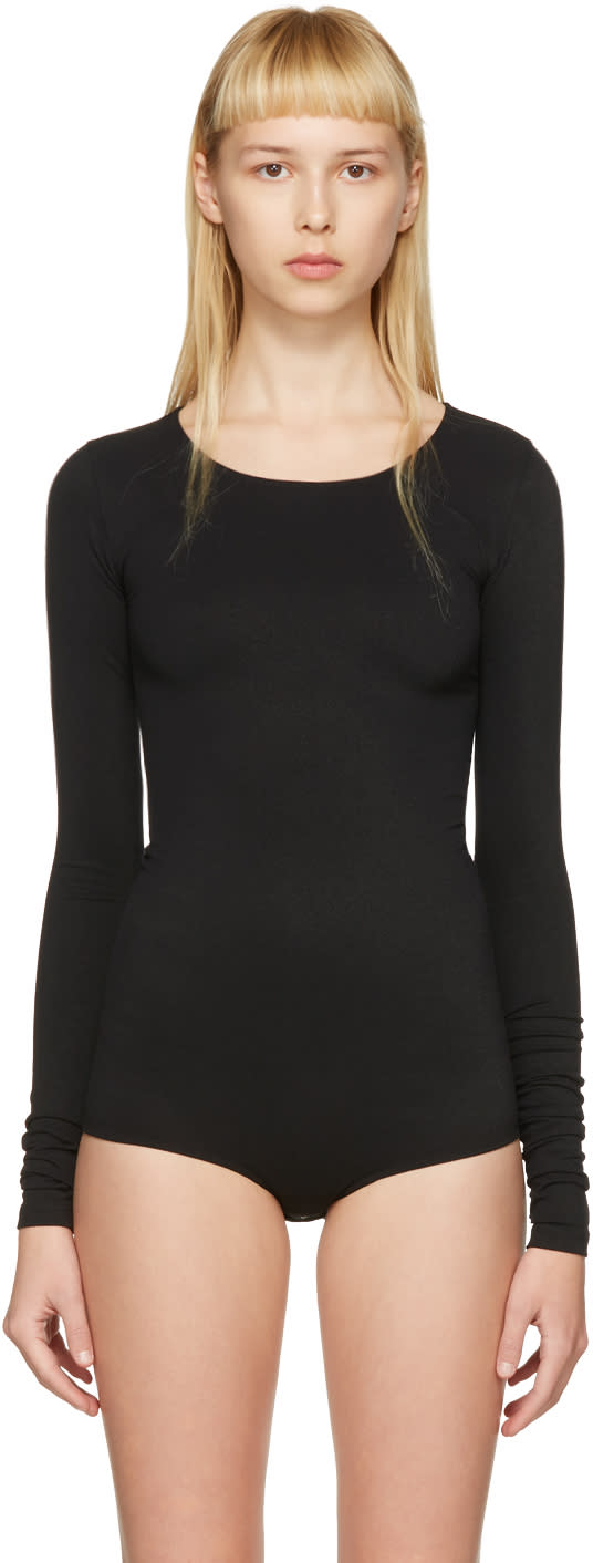 Rick Owens Lilies Black Long Sleeve Bodysuit
