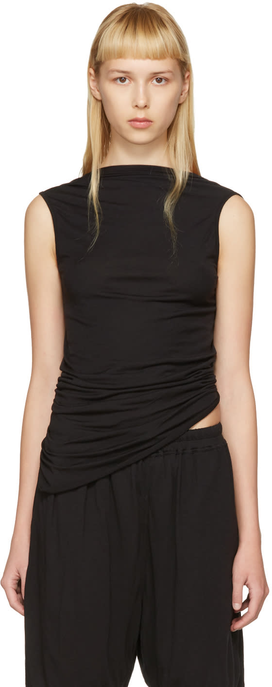 Rick Owens Lilies Black Backless Tank Top
