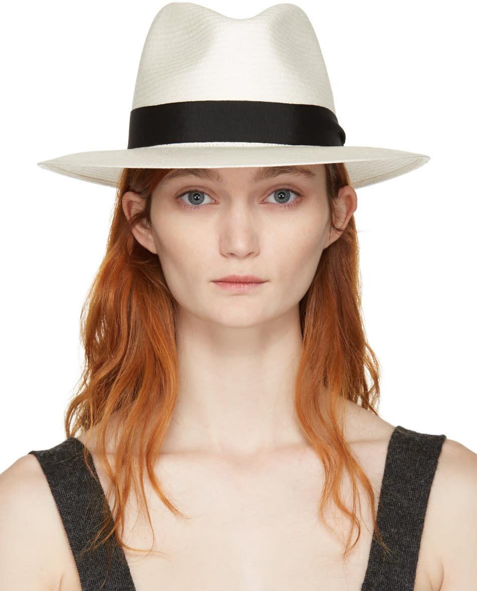 Rag and Bone White Straw Panama Hat