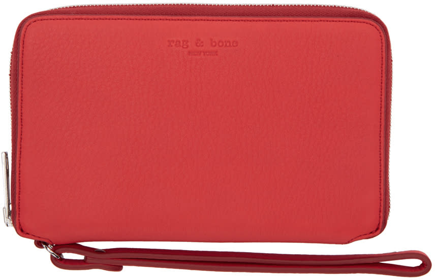 Rag and Bone Red Phone Wristlet Wallet