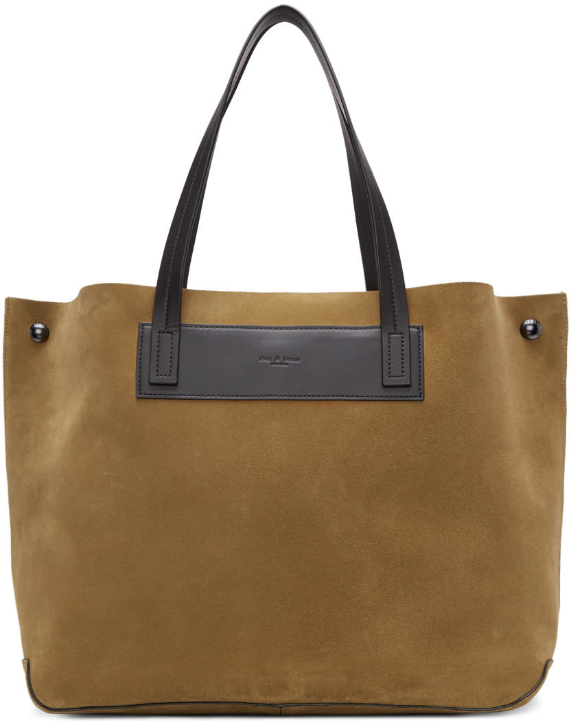 Rag and Bone Brown Suede Compass Everyday Tote
